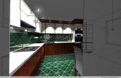Wizualizacja kuchni nowoczesnej 1-1