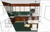 Wizualizacja kuchni nowoczesnej 1-2